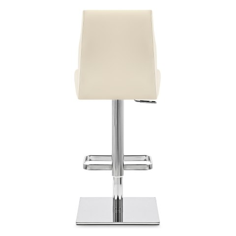 Martello Real Leather Stool Cream