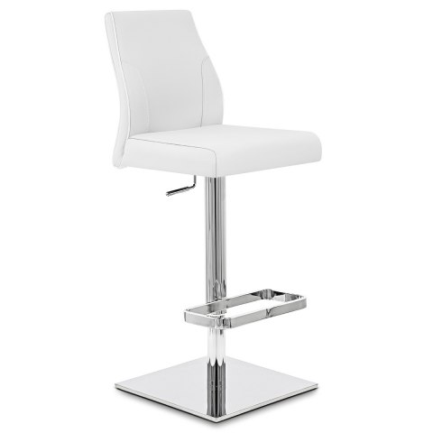 Martello Real Leather Stool White