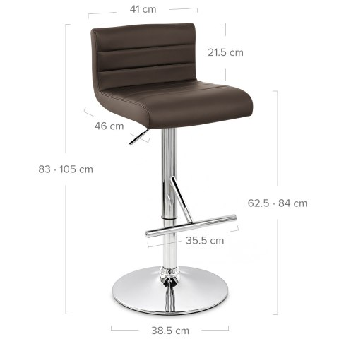 Style Bar Stool Brown