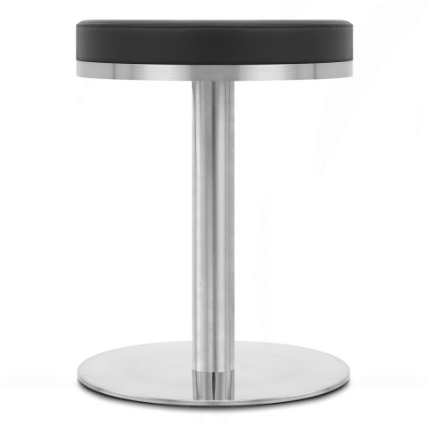 Tuck Brushed Steel Stool Black