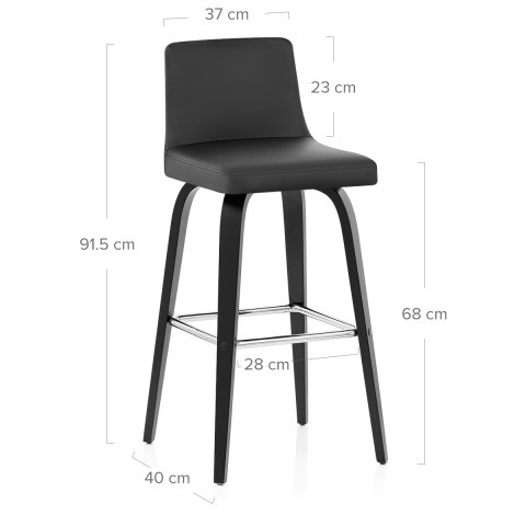 Charlotte Kitchen Stool Black
