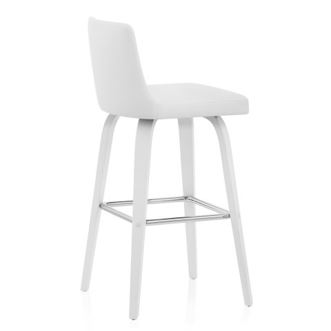 Charlotte Kitchen Stool White