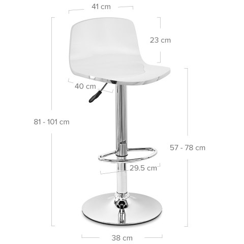 Glam Bar Stool White & Red
