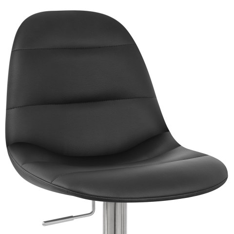Ferrero Brushed Steel Bar Stool Black