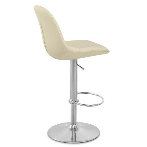 Ferrero Brushed Steel Bar Stool Cream