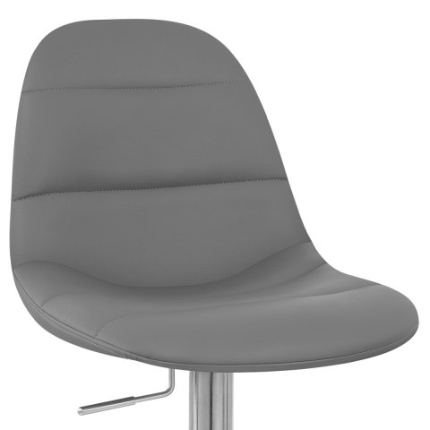 Ferrero Brushed Steel Bar Stool Grey