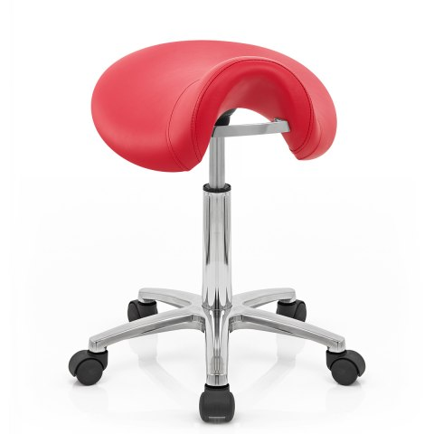 Deluxe Saddle Stool Red