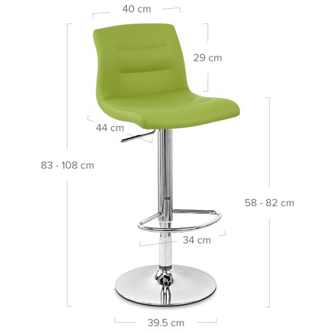 Paradis Bar Stool Green