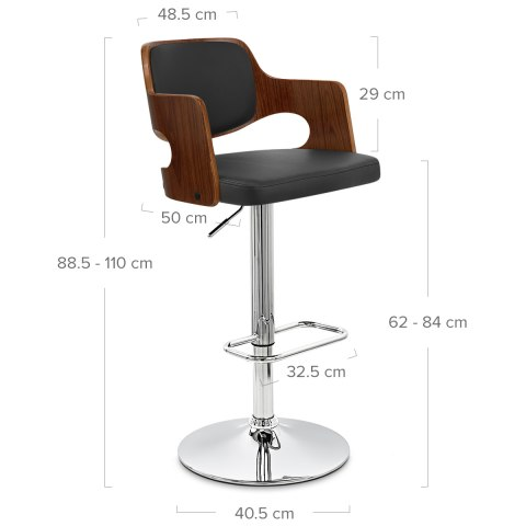 Amazon Walnut Bar Stool Black