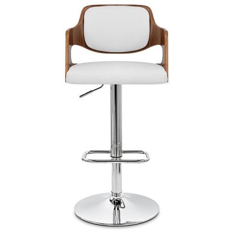 wholesale dealer c6576 e9343 Amazon Walnut Bar Stool White