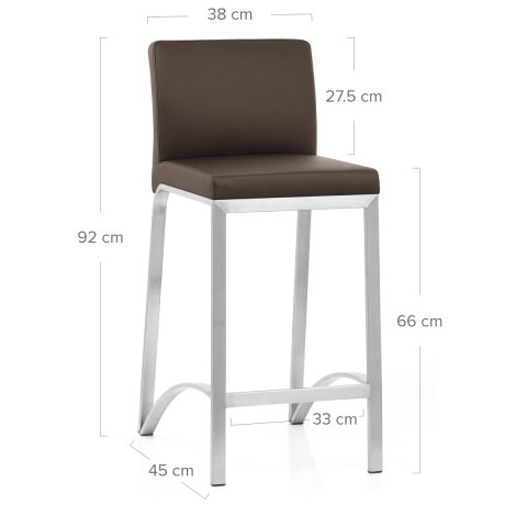 Leah Brushed Stool Brown