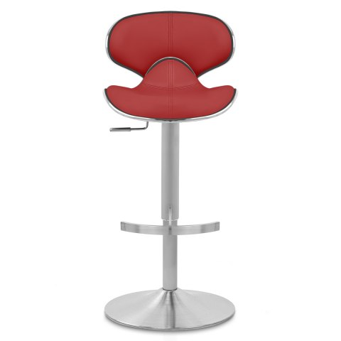 Deluxe Duo Leather Brushed Stool Red