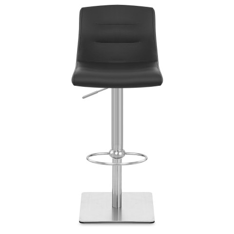Deluxe Paradis Leather Brushed Stool Black