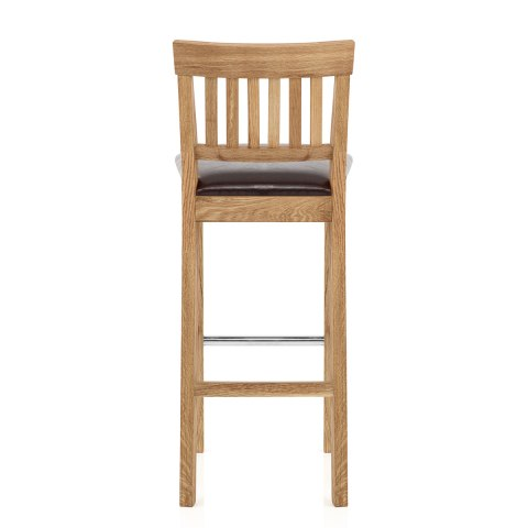 grasmere oak bar stool brown atlantic shopping. Black Bedroom Furniture Sets. Home Design Ideas