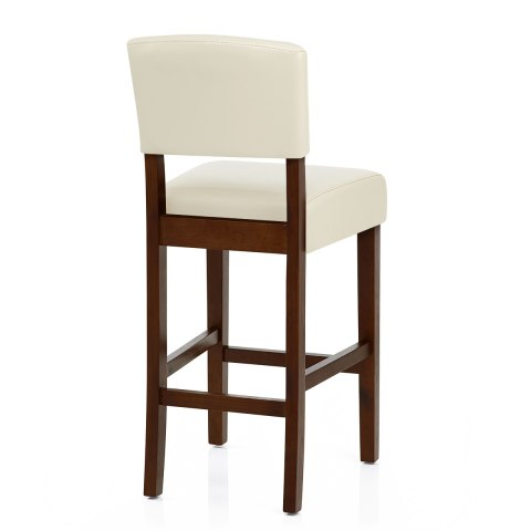 Sydney Walnut Bar Stool Cream