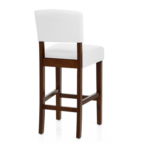 Sydney Walnut Bar Stool White