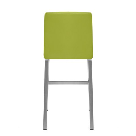 Stella Brushed Steel Stool Green