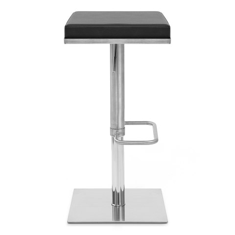 Addison Brushed Steel Stool Black