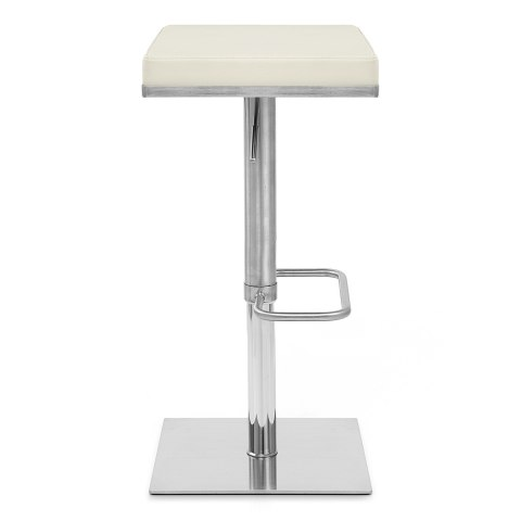 Addison Brushed Steel Stool Cream