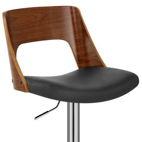 Carmen Leather Stool Walnut & Black