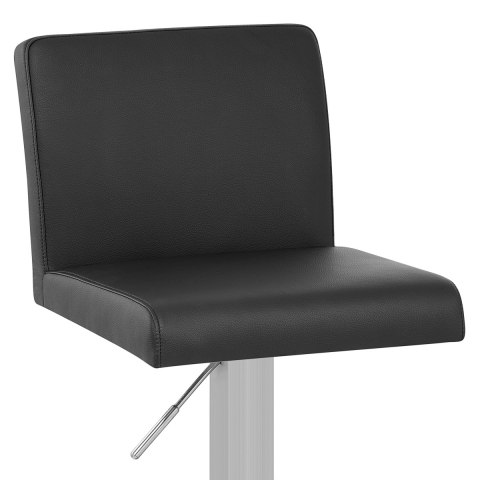 Newark Brushed Bar Stool Black