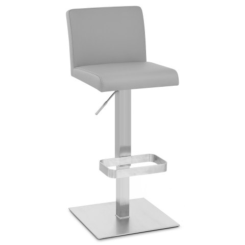 Newark Brushed Bar Stool Grey