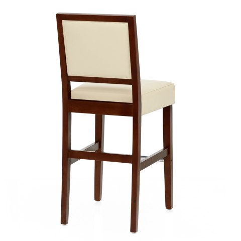Phenomenal Jasper Leather Bar Stool Walnut Cream Andrewgaddart Wooden Chair Designs For Living Room Andrewgaddartcom