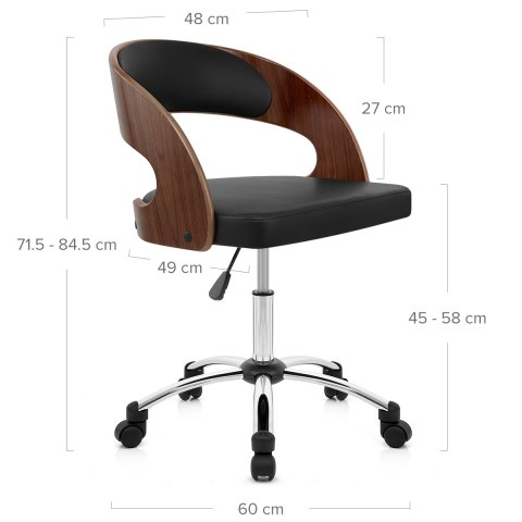Evergreen Office Chair Walnut And Black