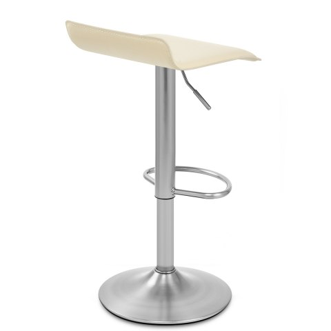 Mars Brushed Steel Bar Stool Cream