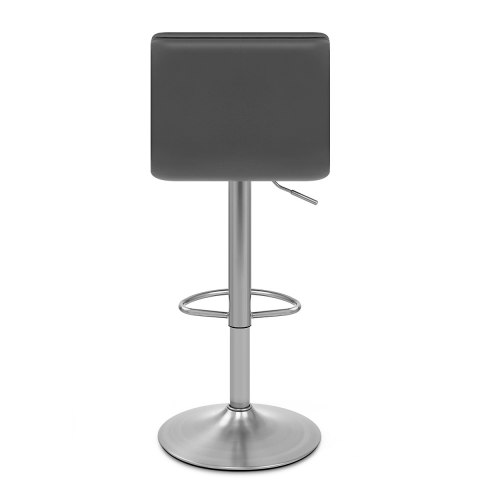 Linear Brushed Steel Bar Stool Grey
