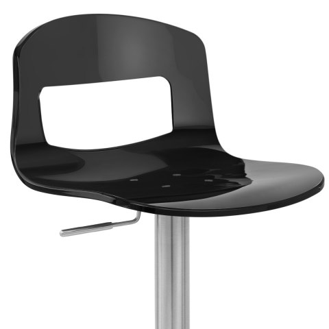 Stardust Brushed Steel Stool Black
