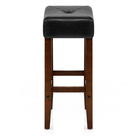 Otis Walnut Bar Stool Black