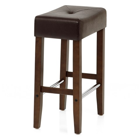 Otis Walnut Bar Stool Brown