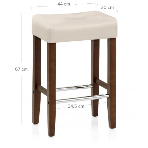 Otis Walnut Bar Stool Cream Atlantic Shopping