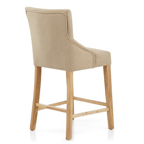 Magna Oak Beige Fabric Bar Stool Atlantic Shopping