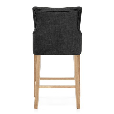 Magna Oak & Grey Fabric Bar Stool
