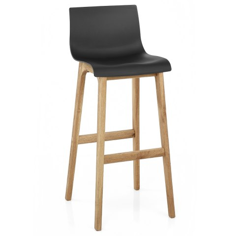 Drift Oak & Black Bar Stool