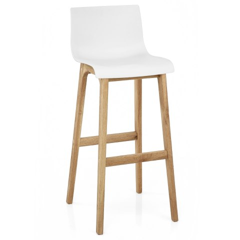 Drift oak white bar stool atlantic shopping - Chaise de bar vintage ...