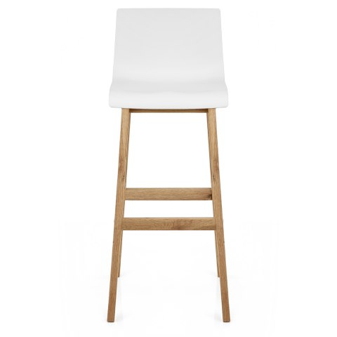 Drift Oak Amp White Bar Stool Atlantic Shopping