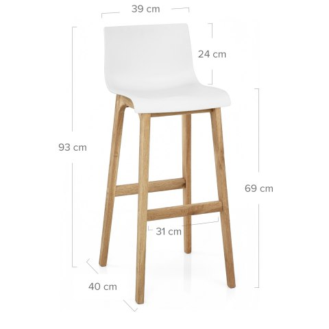 Drift Oak & White Bar Stool