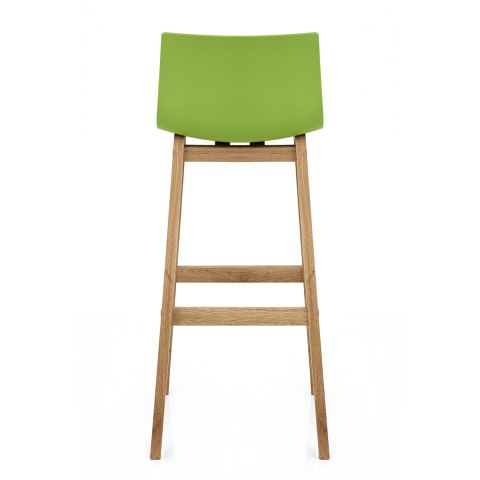 Drift Oak & Green Bar Stool