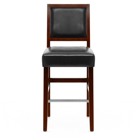 Jasper Leather Bar Stool Walnut & Black