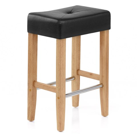 Otis Oak Bar Stool Black