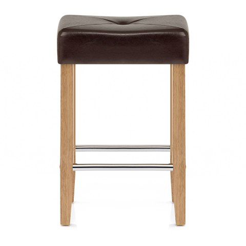 Otis Oak Bar Stool Brown