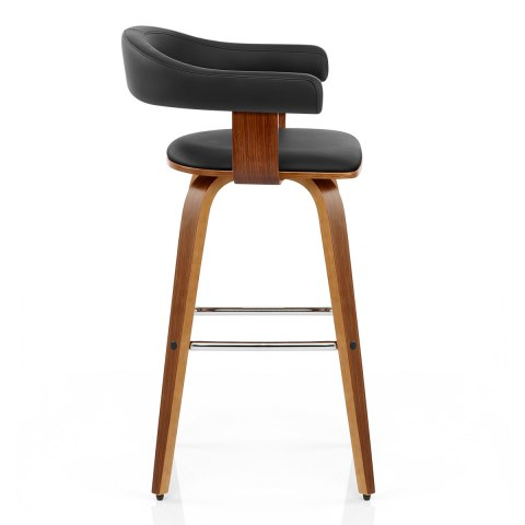 Ontario walnut bar stool black atlantic shopping - Chaise de bar castorama ...