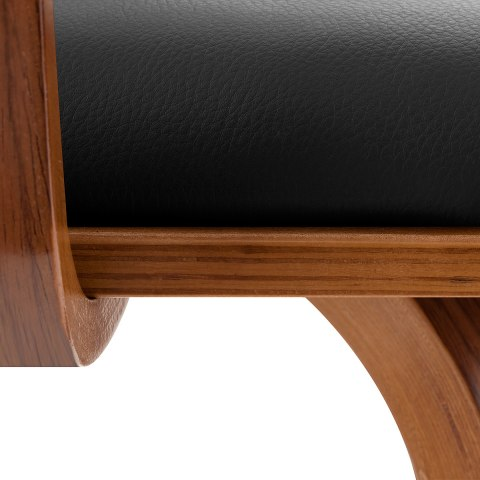 Ontario Walnut Bar Stool Black