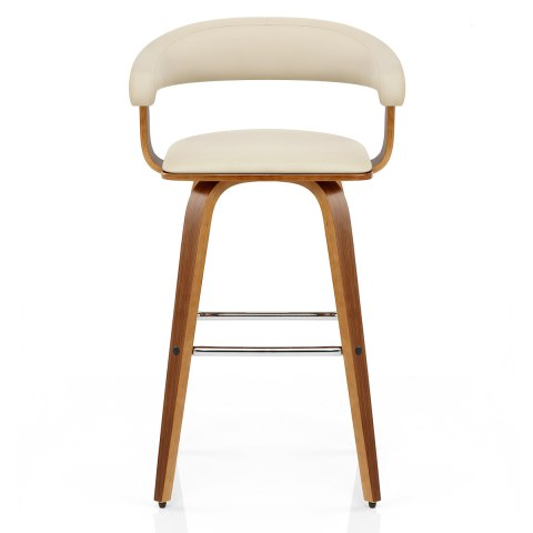 Ontario Walnut Bar Stool Cream