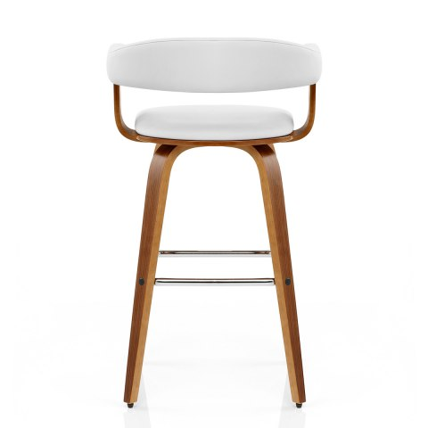 Ontario Walnut Bar Stool White