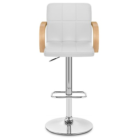 Burton Oak Bar Stool White