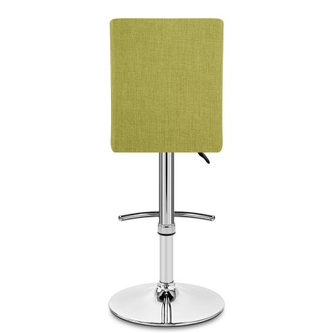 Deluxe High Back Stool Green Fabric